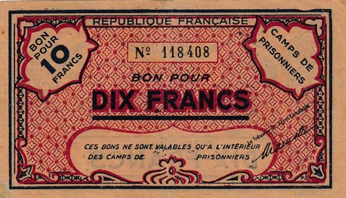 Algeria and Tunisia, 10 Francs, ...